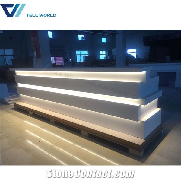 Restaurant Bar Counter Design Lighted Bar Counter from China ...