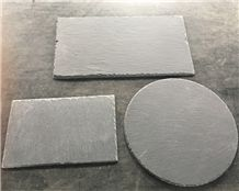 Wholesale Rectangle Black Slate Plate Stone Plate/Slate Cheese Board /Heart Shape Laser Engraved Slate Tableware