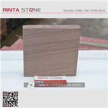 China Peachwood Sandstone Natural Brown Stone Slabs Tiles