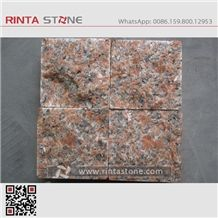 G562 Maple Red Granite Curbstone Guangxi Leaf Stone Pavers Tile Paving