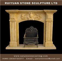 Mantel Sculpture Carving Fireplace Statue Mantel
