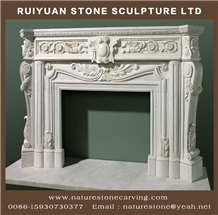 Marble Fireplace Sculpture Mantel Fireplace