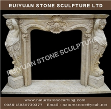 Marble Fireplace Sculpture Statue Mantel Fireplace