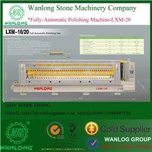 Full Automatic Polishing Line with 8/12/16/20 Heads Granite Slab Grinding and Polishing Stone Machine, Full Automatic Granite Line Polisher Wanlong