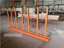 Orange Powder Coated Slab Rack Rails (Posts Adjustable)