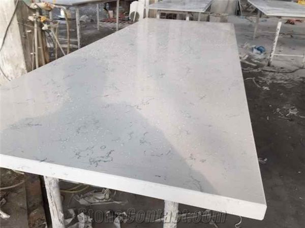 White Carrara Marble Look Engineered