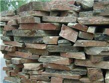 China Cheap Rusty Slate Random Stone Flagstone