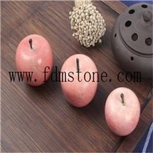 Stone Simulation Fruit Apples, Christmas Holiday Promotion Gifts, Original Stone Carving Craft