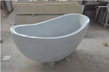 White Jade Marble Bath Tub