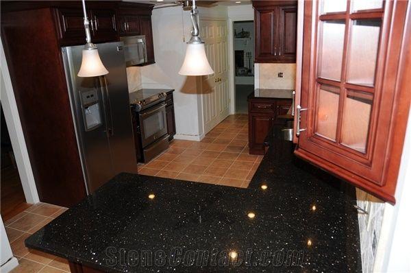 Black Galaxy Granite Kitchen Countertopsgranite Kitchen Desk Tops