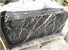 Black Marble Table Top,Marble Solid Surface Table Tops, Black Reception Counter,Marble Table Top