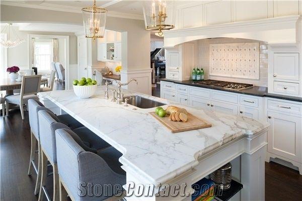 Peachy Calacatta Gold Marble Stone Kitchen Countertops White Machost Co Dining Chair Design Ideas Machostcouk