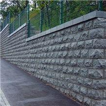 G341 Light Granite Mushroomed Wall Stone