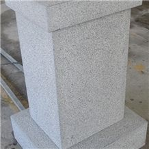 G654 Granite Pedestal Columns,Dark Grey/Sesame Dark Granite, China Grey Granite