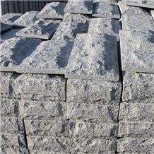 Light Grey G640 Granite Mushroom Corner Cladding Stone, China Luna Pearl Corner Stone, Black White Flower Corner Cladding Stone, China Natural Split Surface Mushroom Corner Wall Cladding Stone