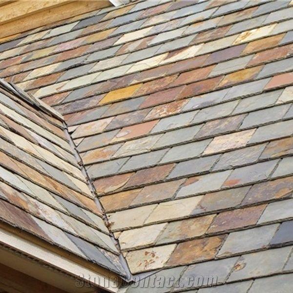 Multicolor Slate Roof Tiles,Rusty Roofing Slate Tiles