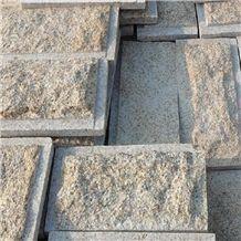 Shandong Rust Wall Granite Mushroomed Tile,Yellow Rust Stone,G350 Granite