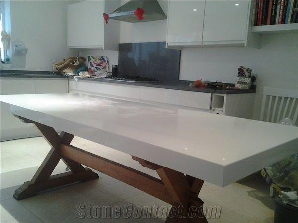 White Quartz Stone Table Tops White Tabletops Reception