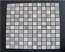 Carrara White and Gray Wood Grain Marble Mosaics,Natural Stone Mosaics,Wall Mosaic,Floor Mosaic,Mosaic Pattern
