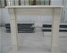 China Modern Style White Marble Fireplace