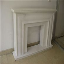 Handcarved White Marble Fireplace,Modern Style Fireplace