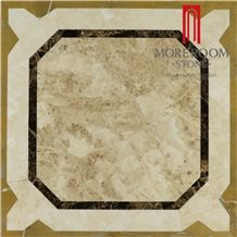 Cappucino Beige Waterjet Compound Stone Tiles