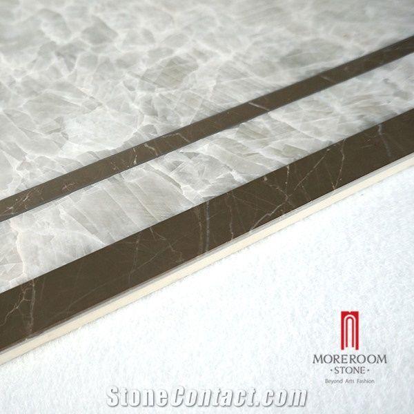 Grey Onyx Laminate Stone Composite Marble Water Jet