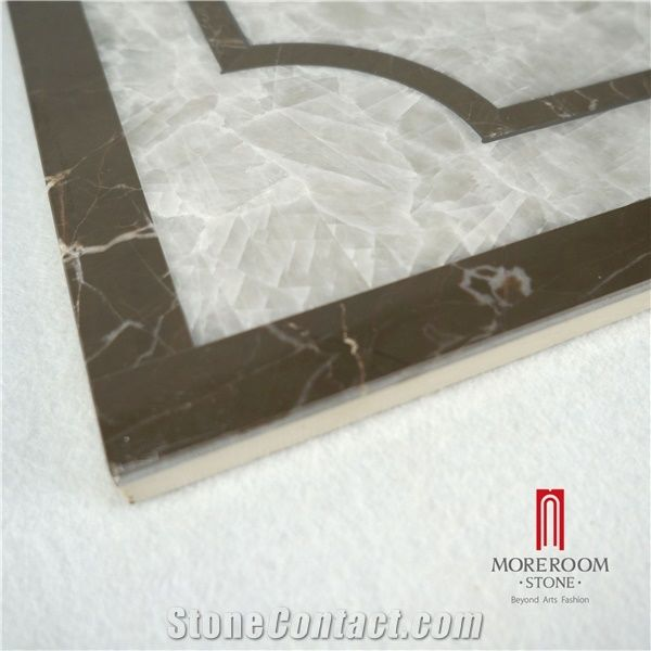 Grey Onyx Laminate Stone Composite Marble Water Jet