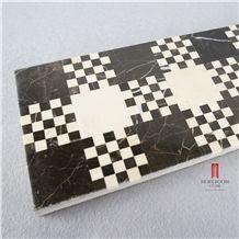 Nero Margiua Water-Jet Mosaic Border Floor Design