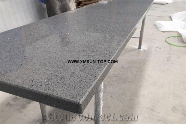 Grey Quartz Stone With Mirror Piece