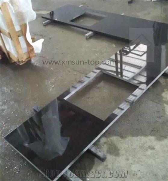 Shanxi Black Granite Kitchen Counter Top Absolute Black