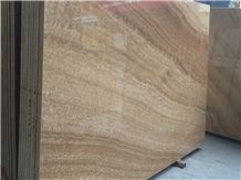 Fossil Brown Marble, Yellow Wood Marble, Wooden Marble Brown Slabs & Tiles