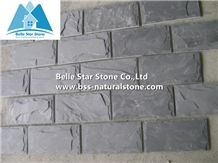 Black Split Face Slate Mushroom Stone,Natural Mushroom Wall Cladding,Charcoal Grey Slate Mushroom Wall Stone,Mushroom Landscaping Stone,Mushroom Pillar Stone
