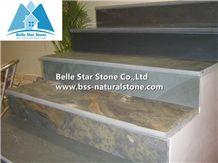Multicolour Slate Steps,Rusty Split Face Slate Stair Treads,Half or 1/4 Bullnose Copper Rust Slate Staircase & Stair Riser,Autumn Rose Steps,Sunset Slate Stairs,Multicolor Slate Steps Stone