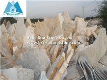Natural Stone Random Flagstone,Oyster Slate Irregular Flagstone,Golden Honey Quartzite Flagstone Pavers,Desert Gold Quartzite Crazy Stone,Landscaping Stones,Split Face Slate Flagstone Wall Cladding