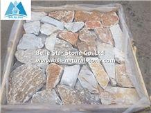 Oyster Quartzite Field Stone,Quartzite Loose Ledger Stone,White Gold Quartzite Stone Wall Cladding,Landscaping Stone,Oyster Loose Stone,Desert Gold Quartzite Field Stone Veneer