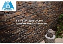 Sunset Split Face Slate Stone Panels,Multicolor Slate Stone Wall Panels,Autumn Rose Stone Veneer,Fireplace Rusty Stacked Stone,Multicolour Slate Culture Stone,Indoor Stone Facade,Z Clad Stone Cladding