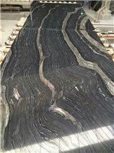 Black Forest Book Matched Slabs, China Grey Granite