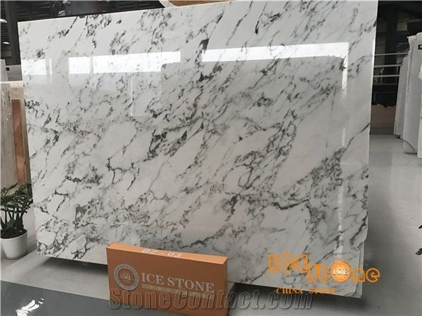 China Arabeo Aurora White Polished Marble Tiles Slabs Chinese Green Wall Covering Floor Suitable For Project