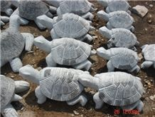 G341 Grey Granite Small Stone Animals for Decoration, Stone Animals in Garden and Landscaping