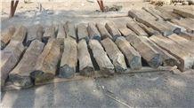 Natural Basalt Column ,Black Granite Natural Finish Column Palisade