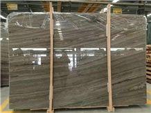 China Wood Grain Marble Slabs & Tiles/Brown Wood Grain Marble Big Slabs/Wooden Brown Marble/Armani Brown Marble/Royal Wood Grain Marble/Wooden Grain Brown Marble/Coffee Wood Marble/Kylin Wooden Marble