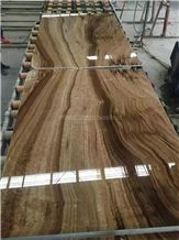 Dark Yellow Wood Grain Onyx Slabs & Tiles/China Yellow Onyx Slabs for Tv & Sofa Wall/High Quality & Best Price Wooden Onyx Big Slabs/Luxury Brown Onyx/Hot Sale Onyx Slab
