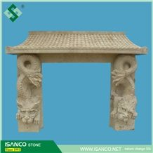 Western Style Natural Artifical Marble Decorative Polished Fireplace for Construct Decoration