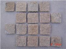 Yellow Brown Quartzite Cobblestone