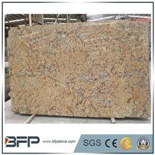 Elegant Sunset Yellow Granite, Sunset Gold Granite Big Slabs for Flooring Tiles, Wall Covering