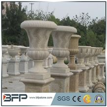 G603 Grey Granite Planters,Stone Flower Pot