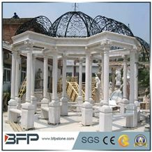 Polished White Gazebo,Garden Gazebo,Own Factory Porches,High Quality Pavillions