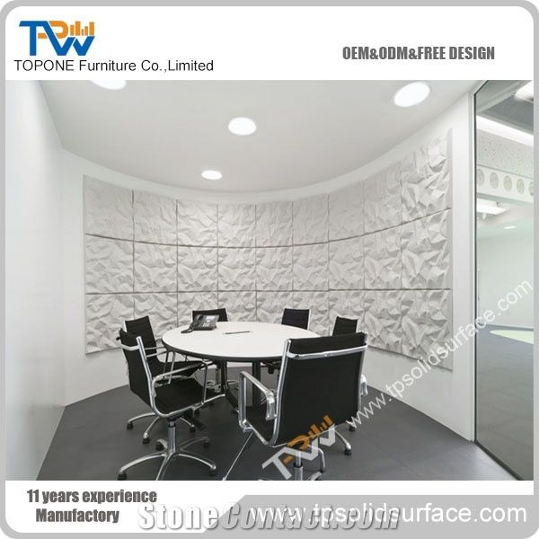 New Design Artificial Marble Stone Round Meeting Table Office - Marble conference table for sale
