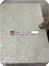 China White Mother Of Pearl Shell Mosaic,Abalone Shell,Shell Tile